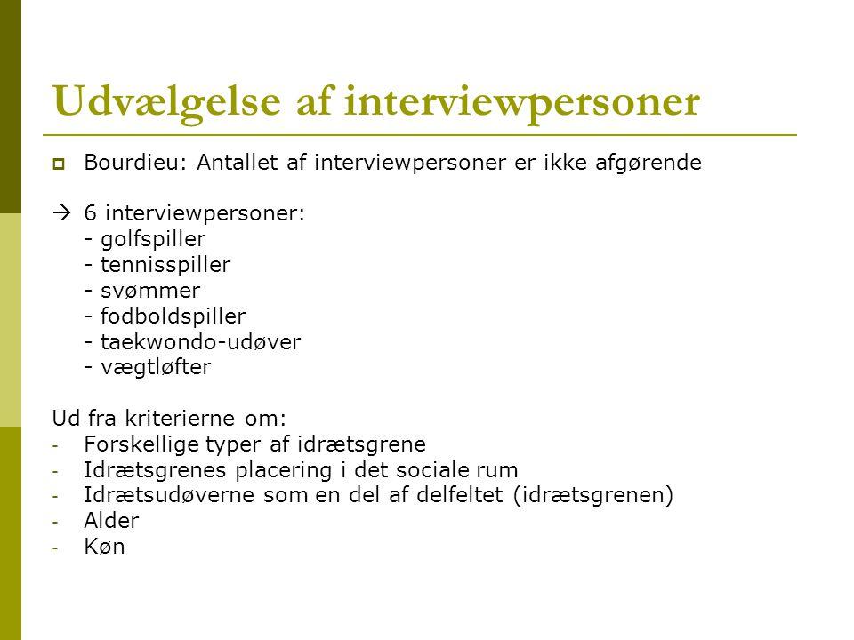 Udvælgelse af interviewpersoner