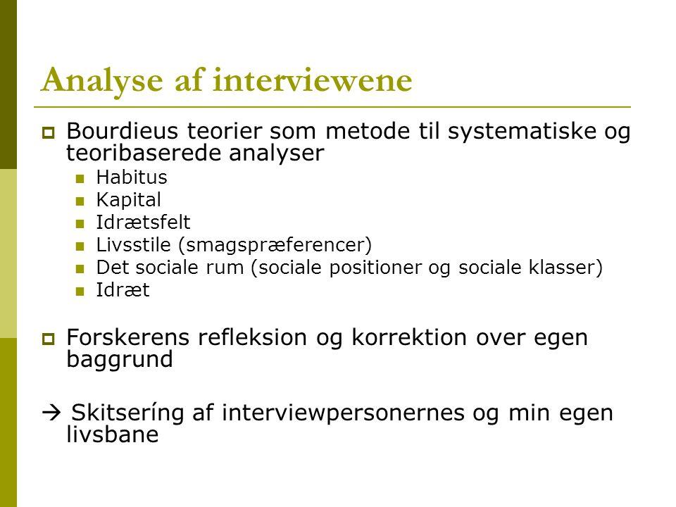 Analyse af interviewene