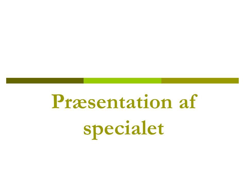 Præsentation af specialet
