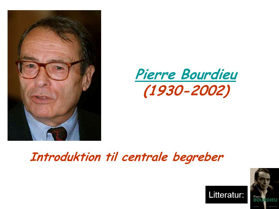 pierre bourdieu en introduktion