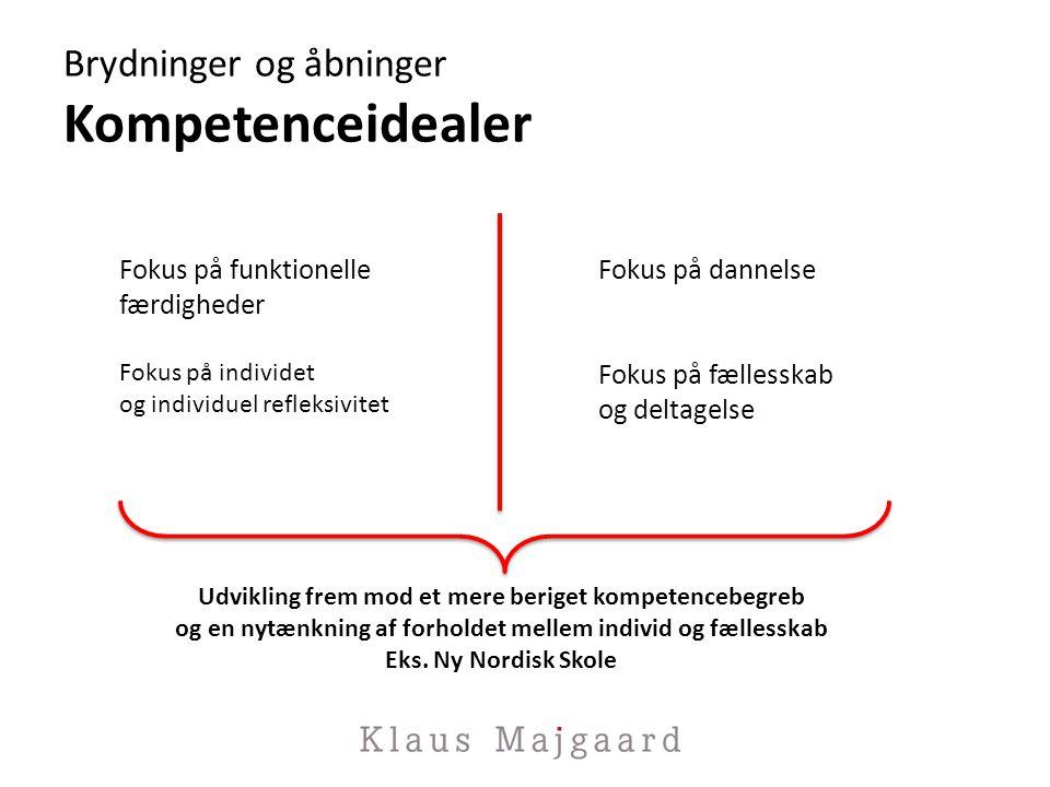 Brydninger og åbninger Kompetenceidealer