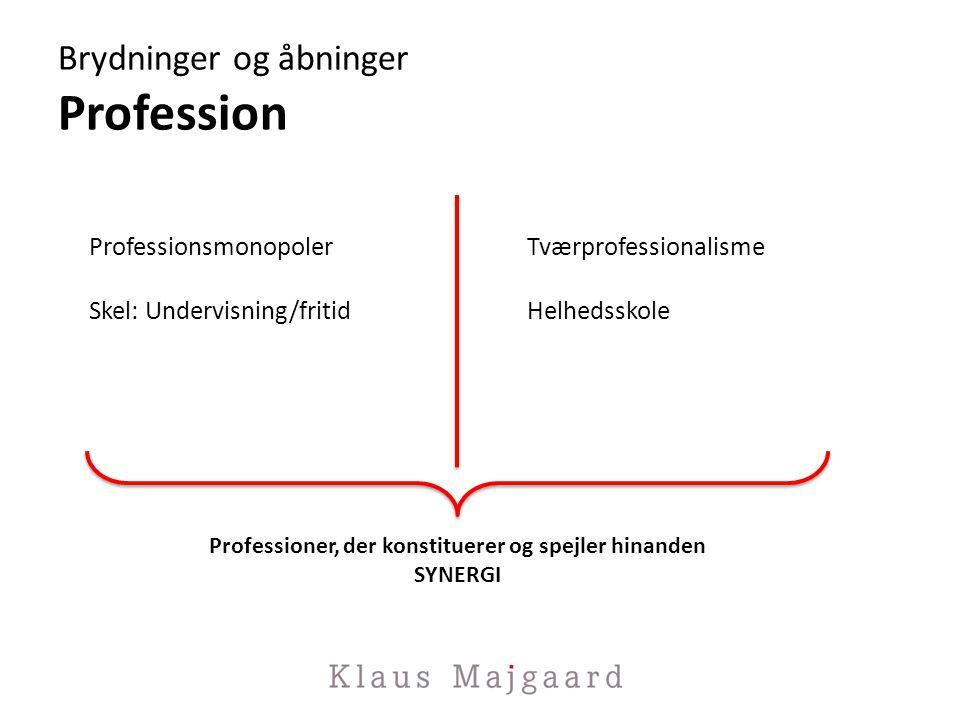 Brydninger og åbninger Profession