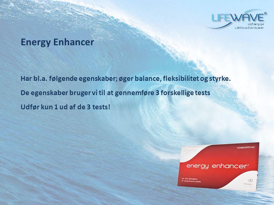 Uafhængige LifeWave Distributører. Energy Enhancer. Har bl.a. følgende egenskaber; øger balance, fleksibilitet og styrke.