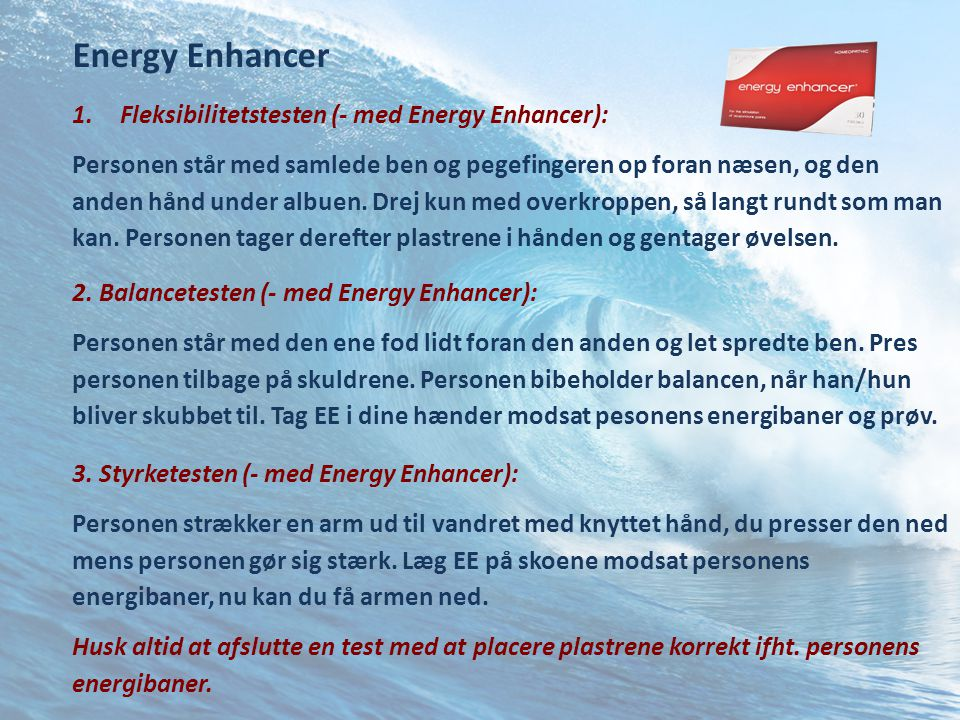 Energy Enhancer Fleksibilitetstesten (- med Energy Enhancer):