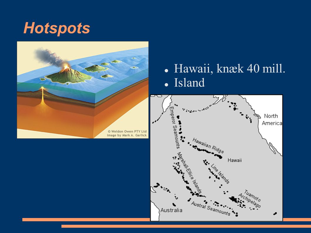 Hotspots Hawaii, knæk 40 mill. Island