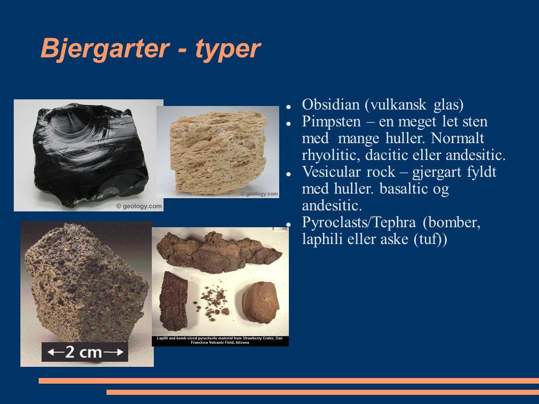 Bjergarter - typer Obsidian (vulkansk glas)