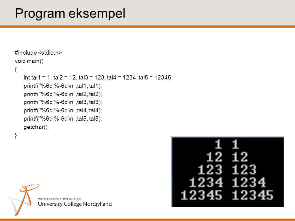Program eksempel
