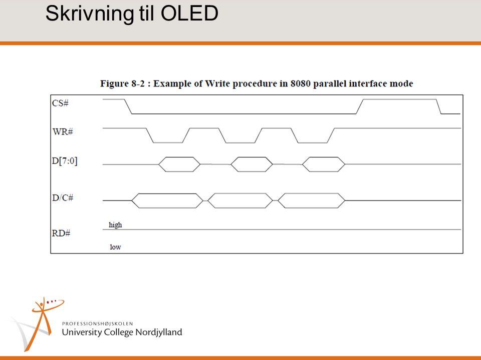 Skrivning til OLED