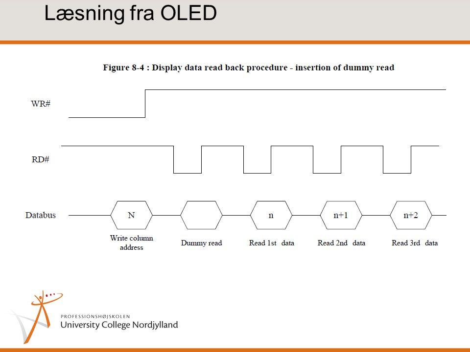 Læsning fra OLED