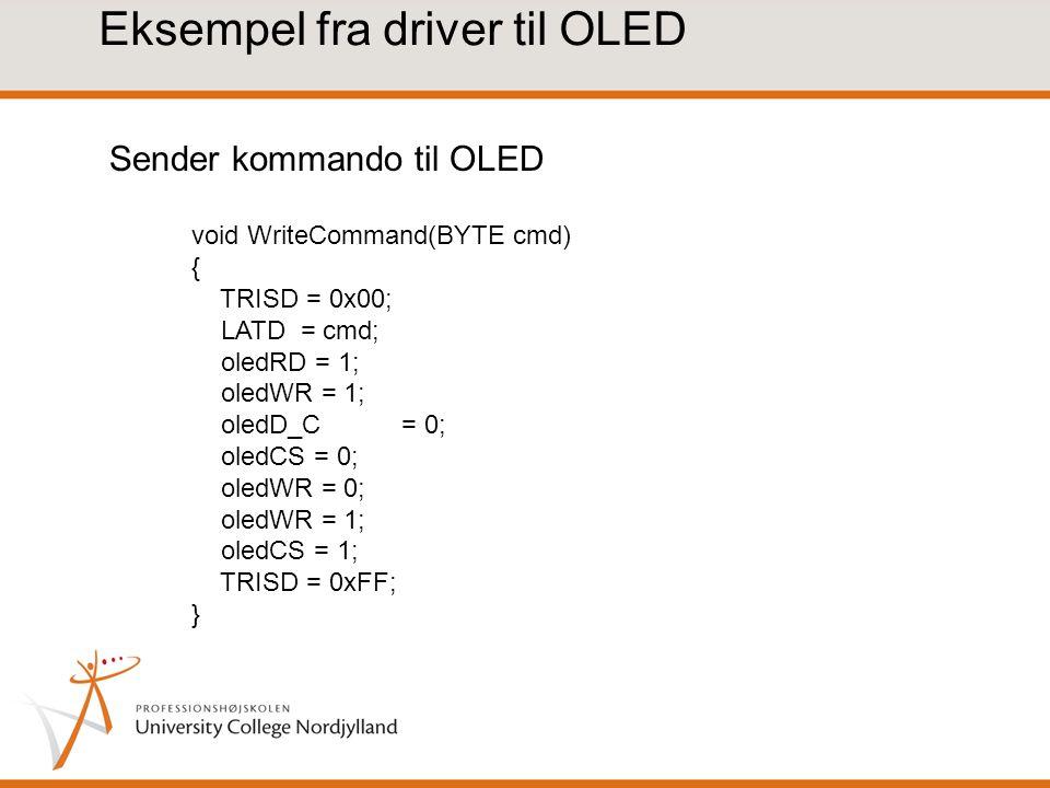 Eksempel fra driver til OLED