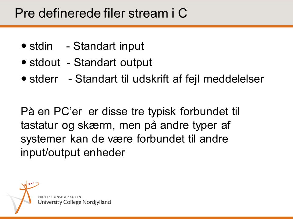 Pre definerede filer stream i C