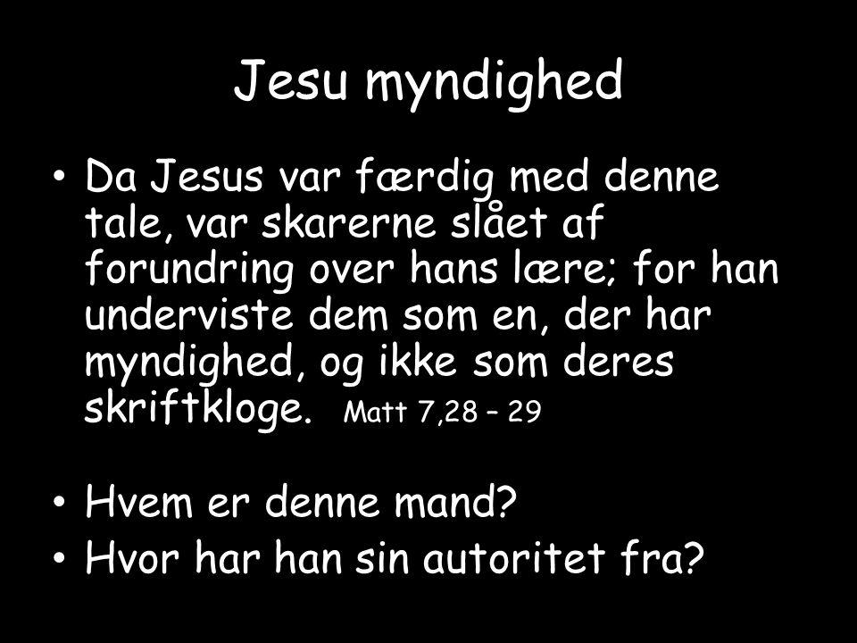 Jesu myndighed