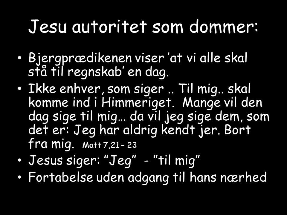 Jesu autoritet som dommer: