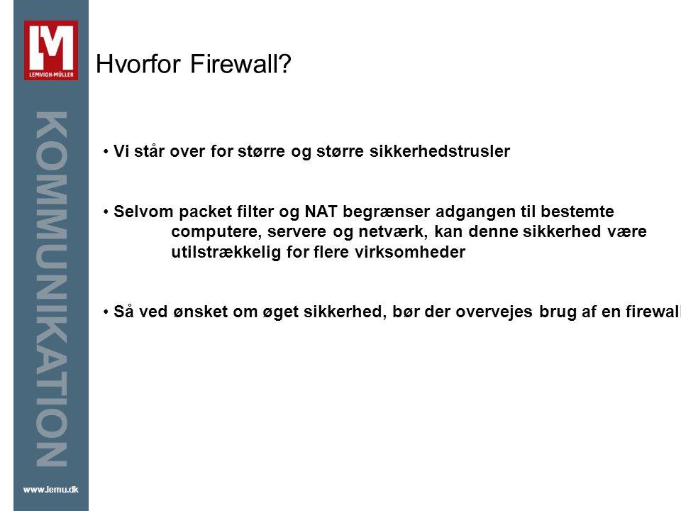 Hvorfor Firewall Firewall