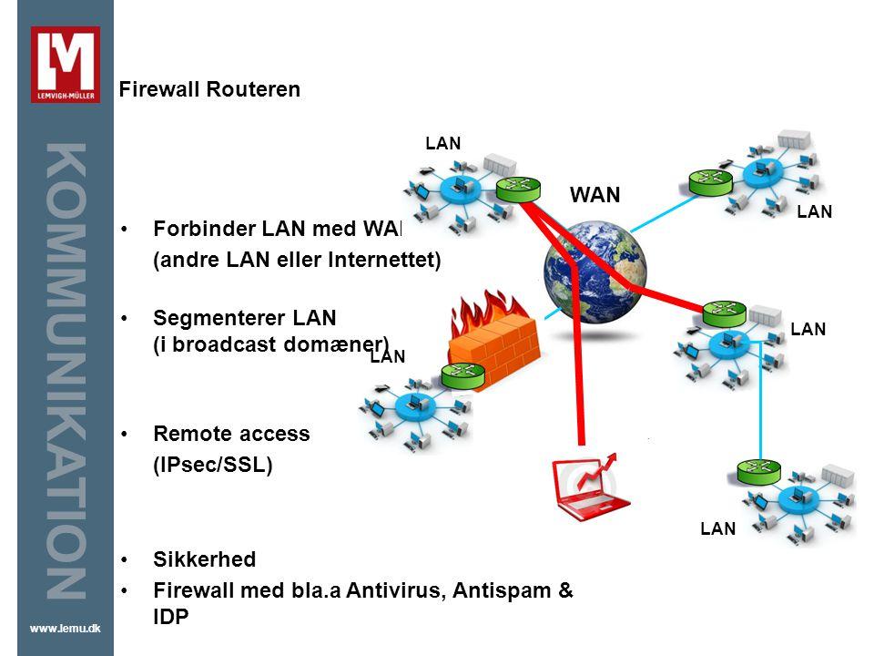 Firewall Firewall Routeren WAN Forbinder LAN med WAN
