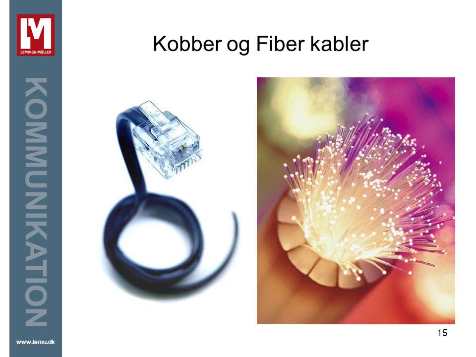 Kobber og Fiber kabler