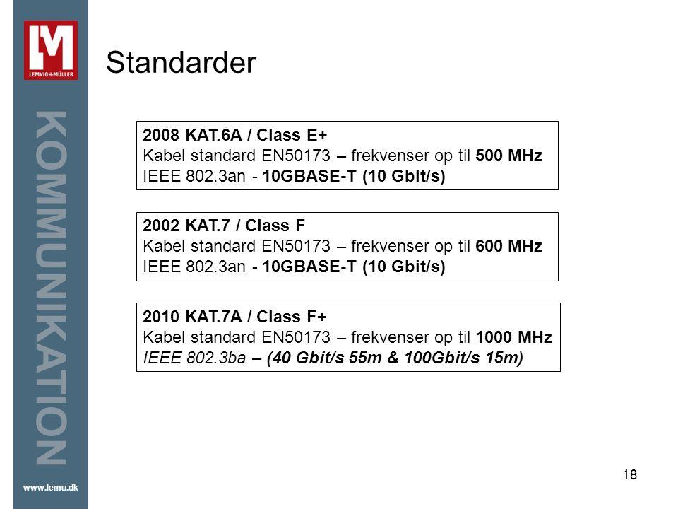 Standarder 2008 KAT.6A / Class E+