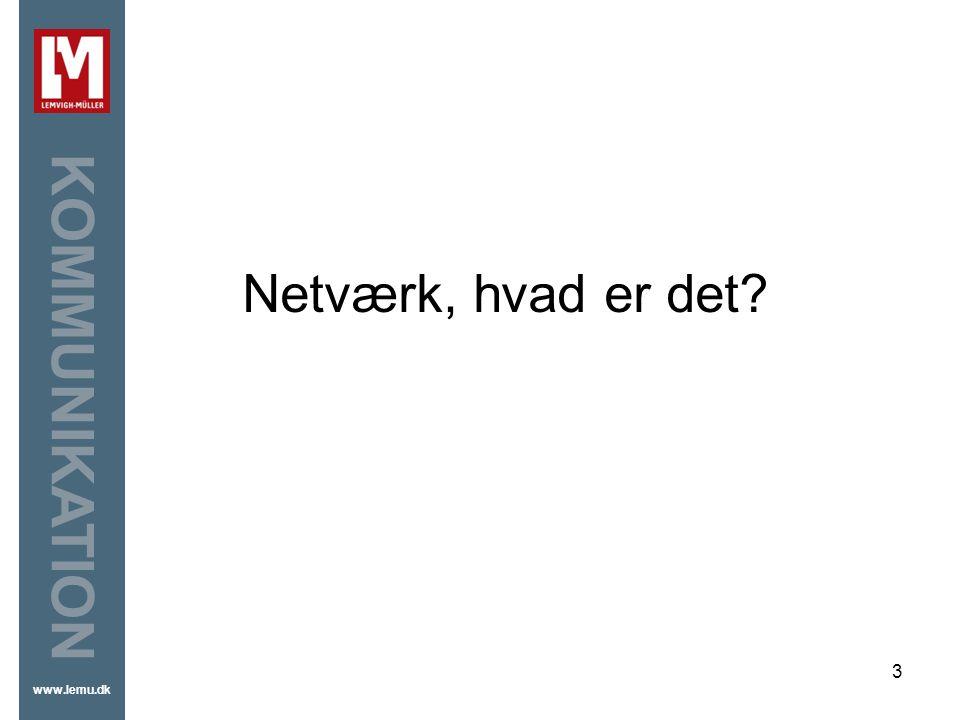 Netværk, hvad er det