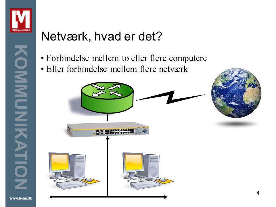 Netværk, hvad er det Forbindelse mellem to eller flere computere
