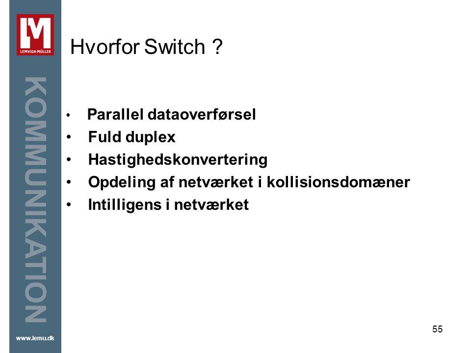 Hvorfor Switch Fuld duplex Hastighedskonvertering