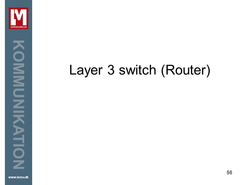Layer 3 switch (Router)