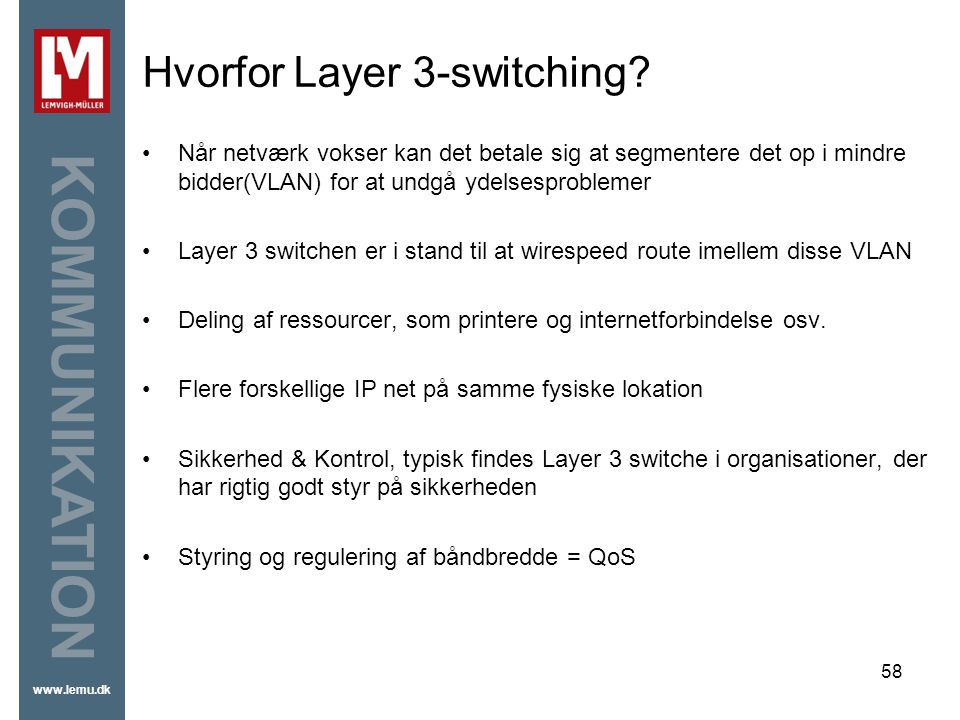 Hvorfor Layer 3-switching