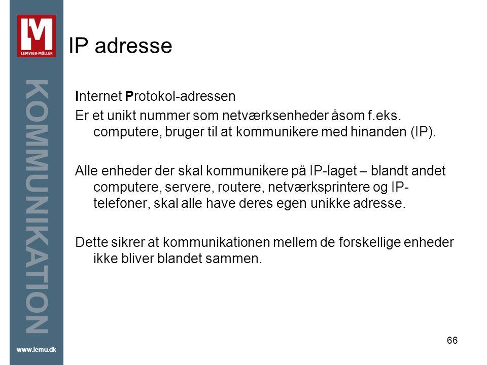 IP adresse Internet Protokol-adressen