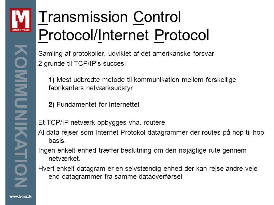 Transmission Control Protocol/Internet Protocol