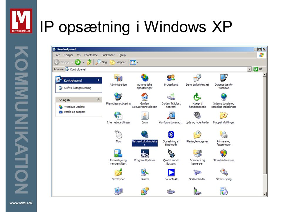 IP opsætning i Windows XP