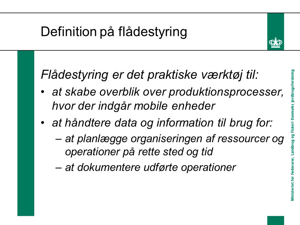 Definition på flådestyring