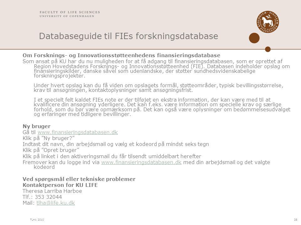 Databaseguide til FIEs forskningsdatabase
