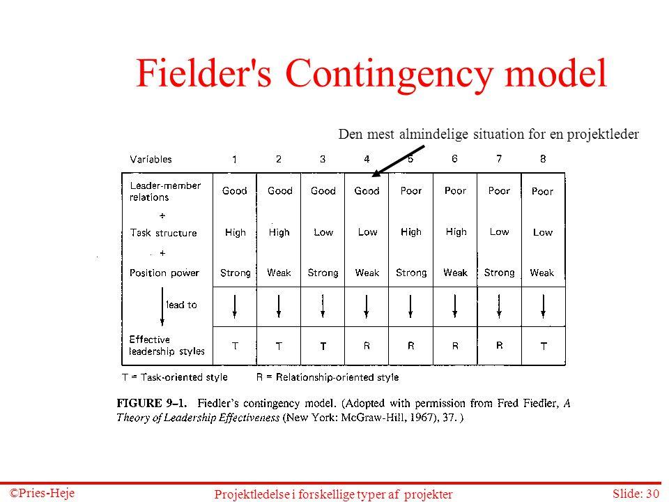 Fielder s Contingency model