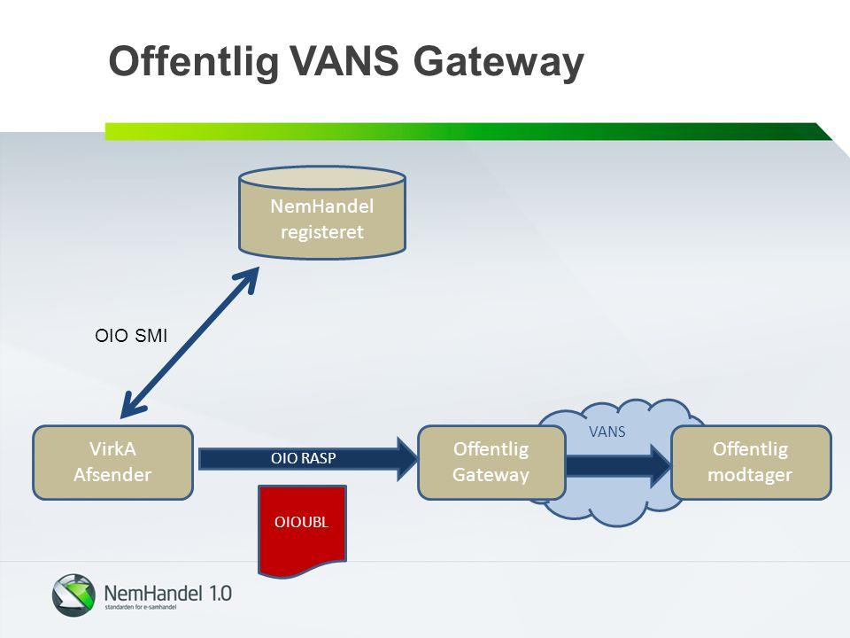 Offentlig VANS Gateway
