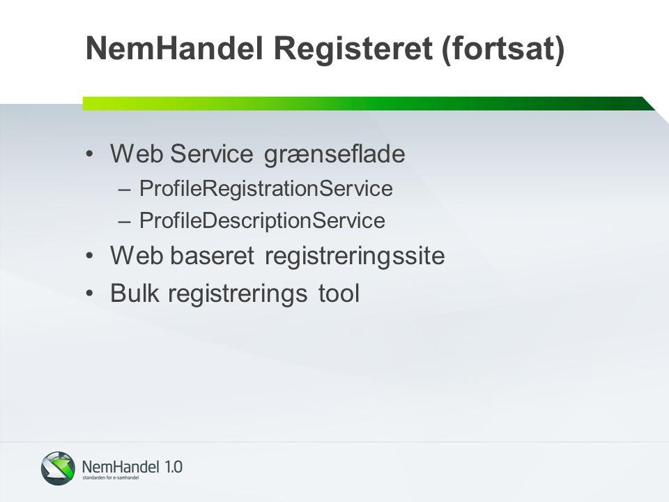 NemHandel Registeret (fortsat)