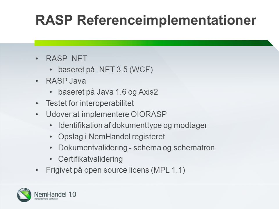 RASP Referenceimplementationer