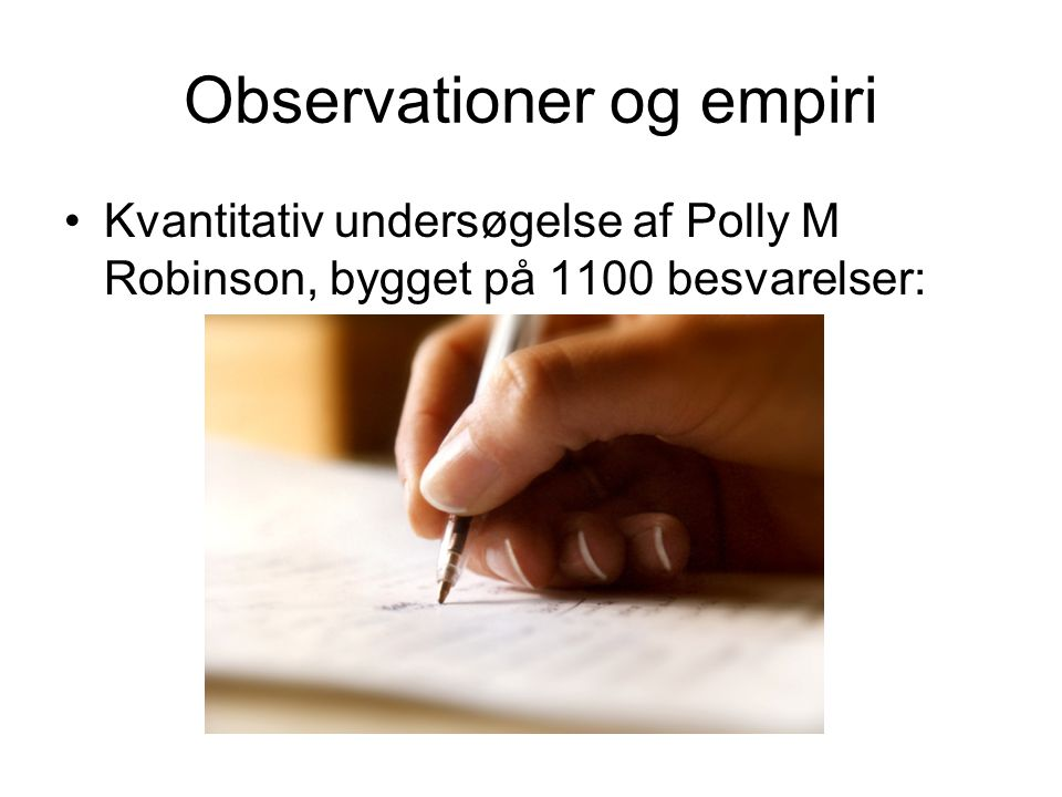 Observationer og empiri