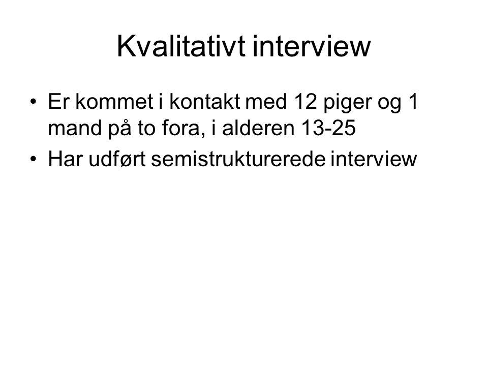 Kvalitativt interview