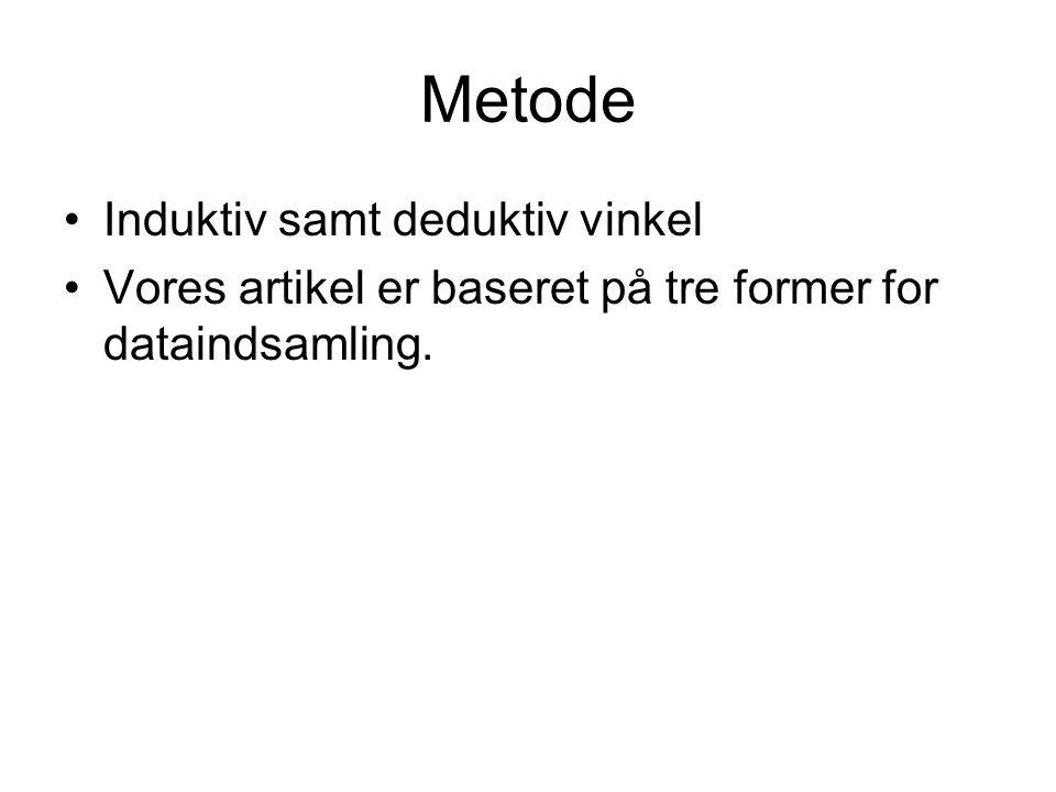 Metode Induktiv samt deduktiv vinkel