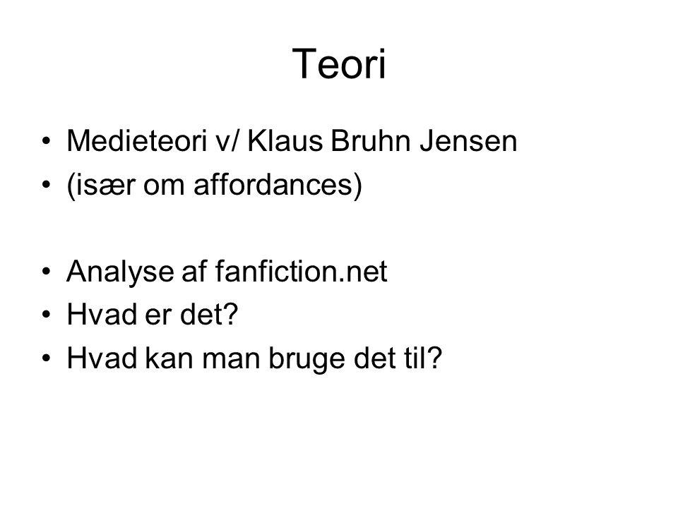 Teori Medieteori v/ Klaus Bruhn Jensen (især om affordances)