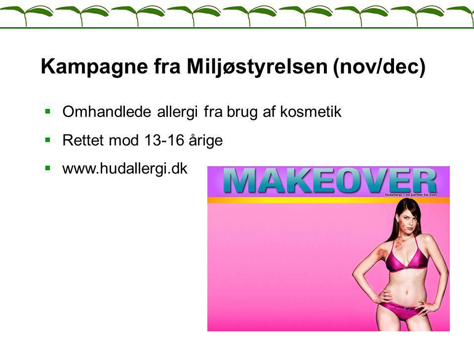 Kampagne fra Miljøstyrelsen (nov/dec)