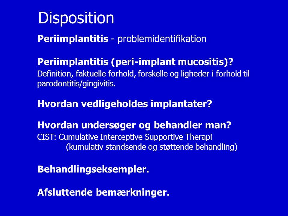 Disposition Periimplantitis - problemidentifikation