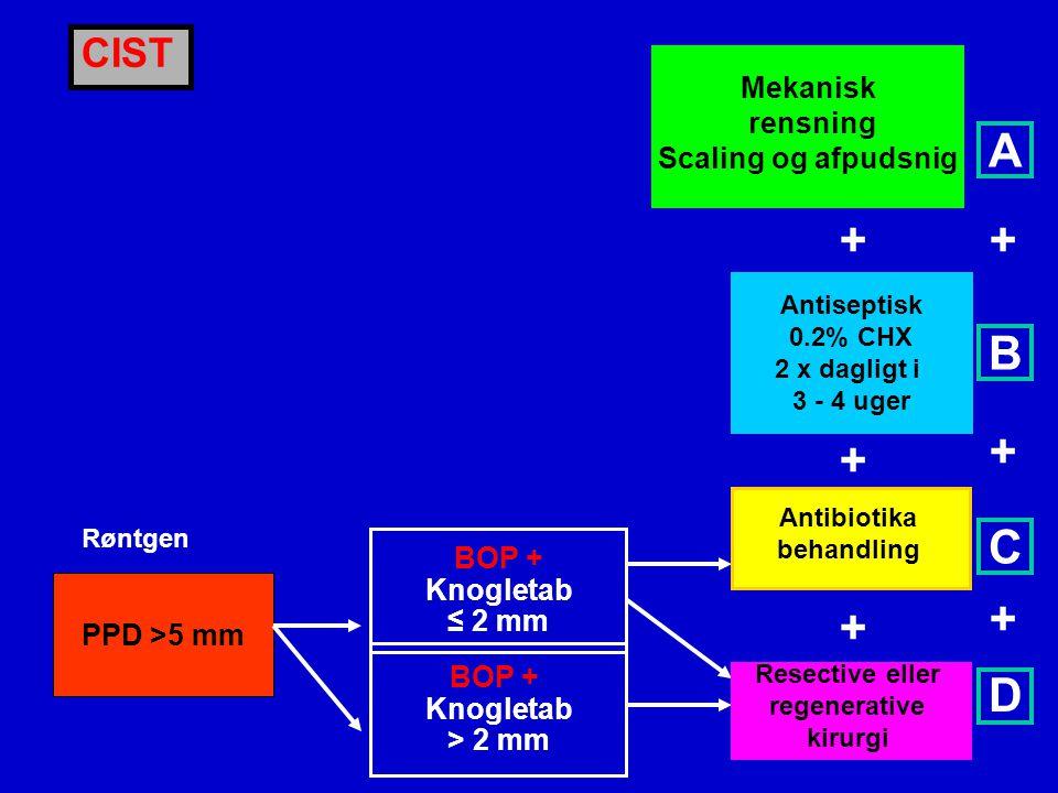 A + + B + + C + + D CIST Mekanisk rensning Scaling og afpudsnig BOP +