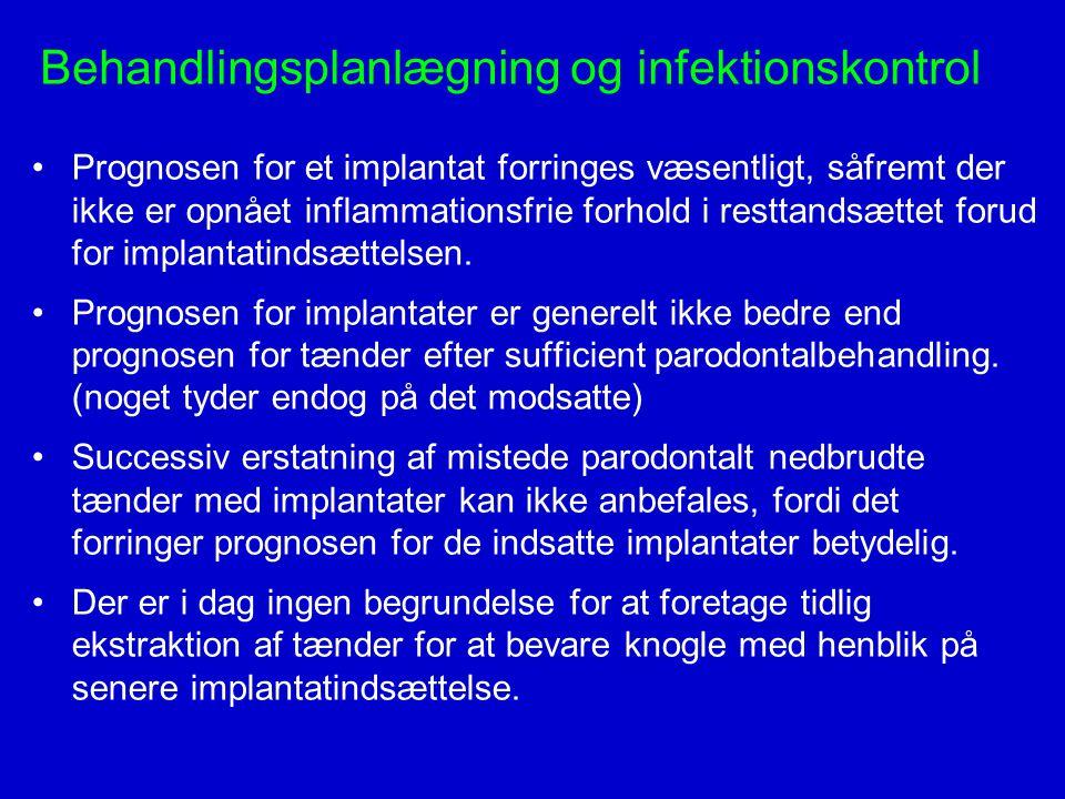 Behandlingsplanlægning og infektionskontrol