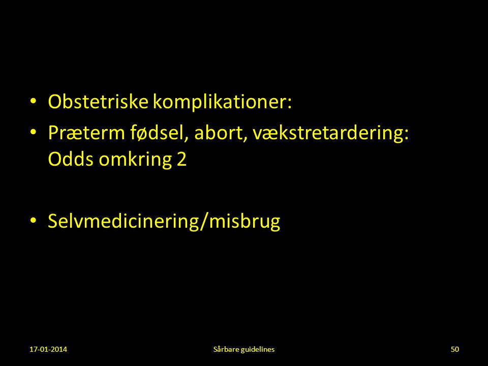 Obstetriske komplikationer: