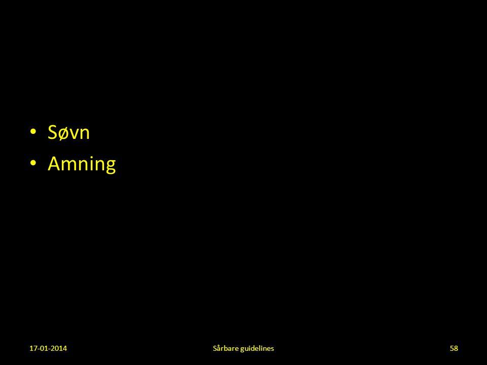 Søvn Amning 17-01-2014 Sårbare guidelines