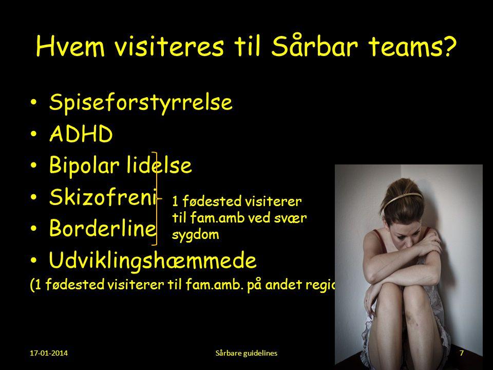 Hvem visiteres til Sårbar teams