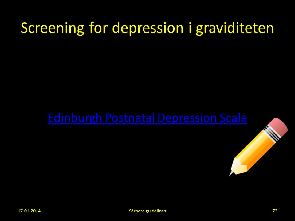 Screening for depression i graviditeten