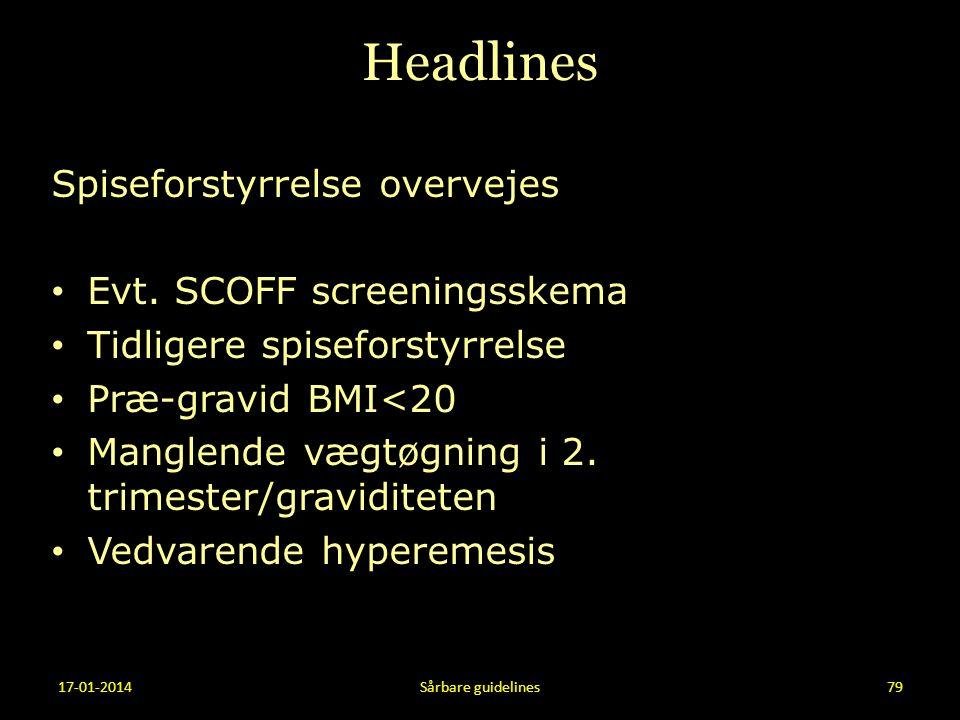 Headlines Spiseforstyrrelse overvejes Evt. SCOFF screeningsskema