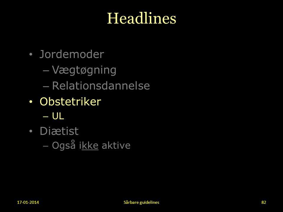 Headlines Jordemoder Vægtøgning Relationsdannelse Obstetriker Diætist