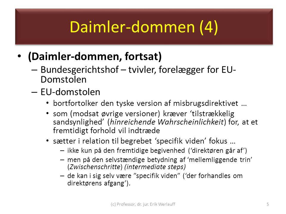(c) Professor, dr. jur. Erik Werlauff